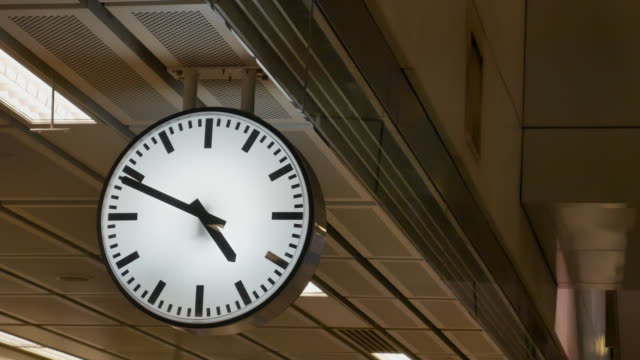 Railway central station clock