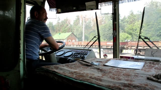 railway crossing in ukraine. - bus driver stock videos & royalty-free footage