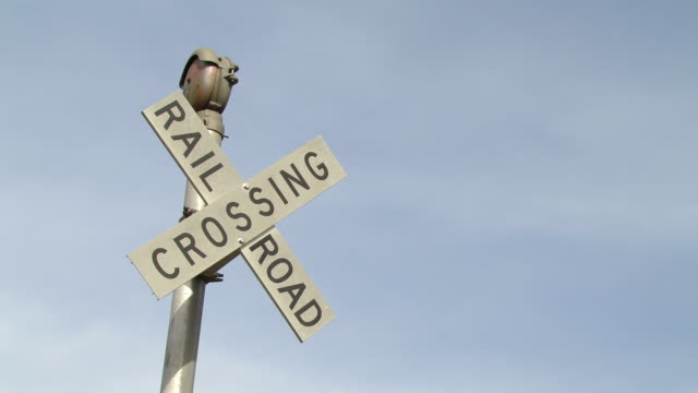 ms railway crossing sign / new orleans, united states - western script stock videos & royalty-free footage