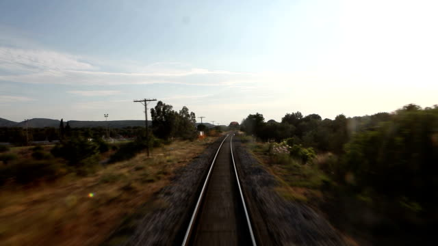 railway from train - diminishing perspective stock videos and b-roll footage