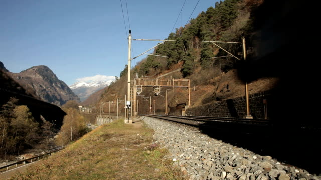 Railway runs on the Gotthard route