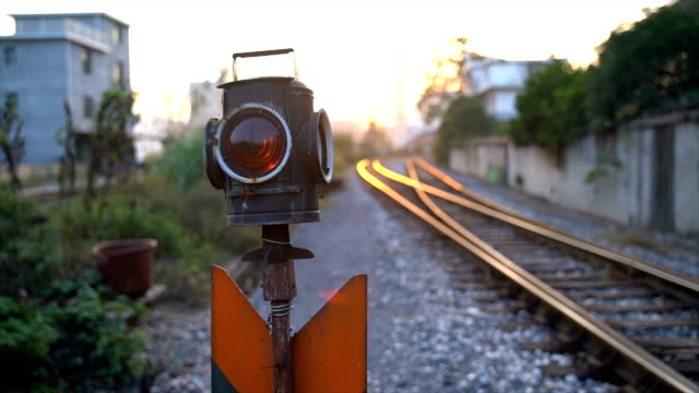 railway signal light - railway signal stock videos & royalty-free footage