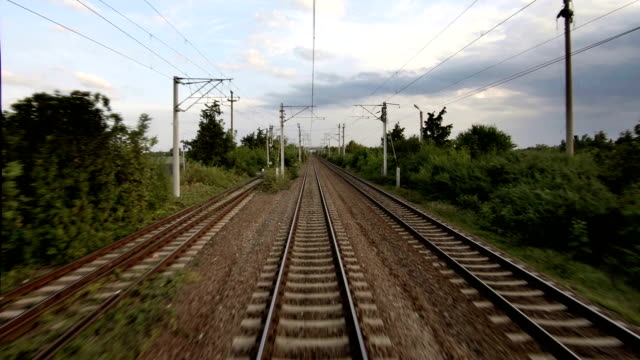 railway time lapse - railway track stock videos & royalty-free footage