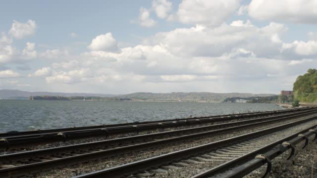 M/S Railway track along side Hudson River