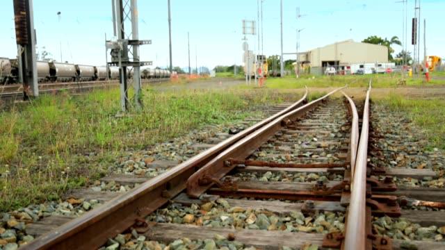 railway track switching - railroad track stock videos & royalty-free footage
