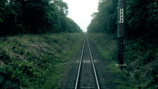 vídeos y material grabado en eventos de stock de ferrocarril de viajes - perspectiva desde un tren