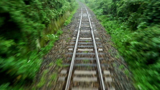 railway traveling - railroad track stock videos & royalty-free footage