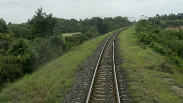 railway traveling - railroad track stock videos and b-roll footage