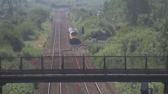 families and friends of track workers killed in accident respond to their deaths wales margam near port talbot ext train along stretch of track where... - railings stock videos & royalty-free footage