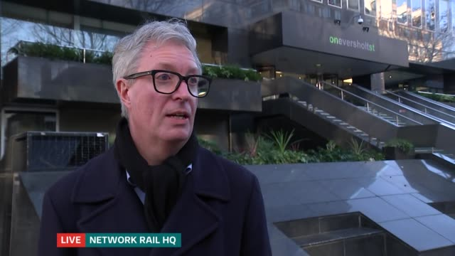 rail watchdog investigating performance of network rail in the north of england england london ext ian wright live interview sot reporter to camera... - curiosity stock videos & royalty-free footage