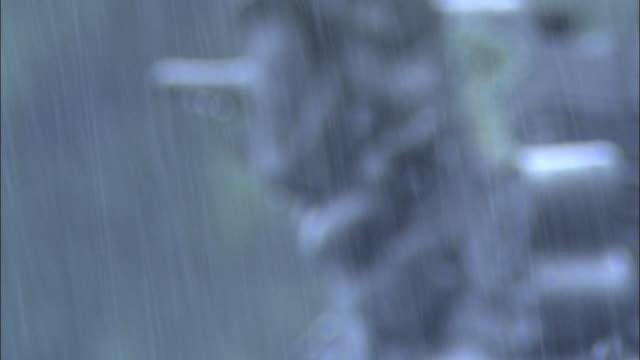 rain _daigahara nara - dissolvenza in chiusura video stock e b–roll