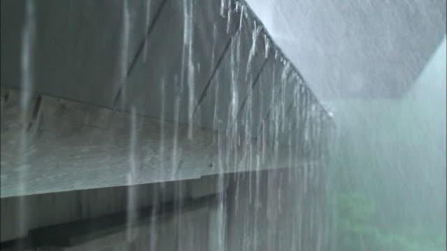 rain _daigahara nara - roof stock videos & royalty-free footage