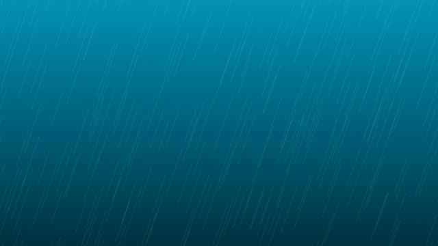 Rain Animation on Black Background Overlay Alpha Channel