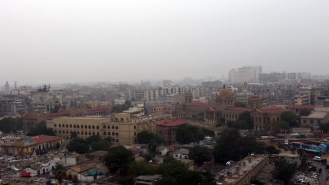 rain at d.j sindh government science college karachi pakistan - karachi stock videos and b-roll footage