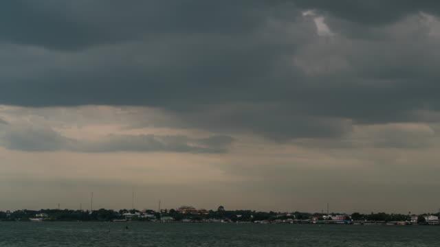 Rain clouds in the sea.