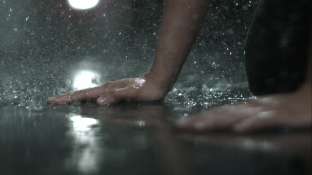 rain dance man hands - sensory perception stock videos & royalty-free footage