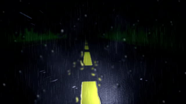 driving rain down street - road marking stock videos & royalty-free footage