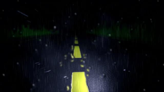 driving rain down street - windscreen stock videos & royalty-free footage