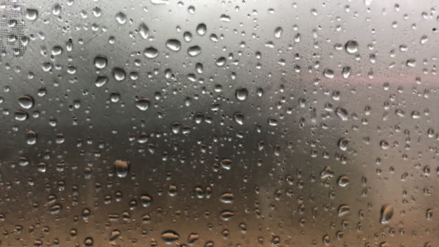 rain drop with fog outside the car background - raindrop stock videos & royalty-free footage