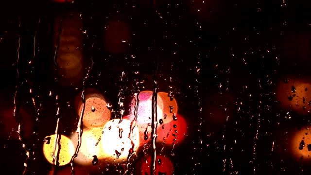 Rain drops at night
