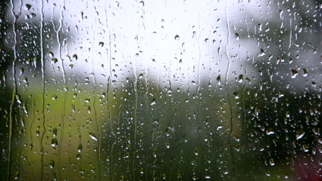 rain drops on the window - pioggia video stock e b–roll
