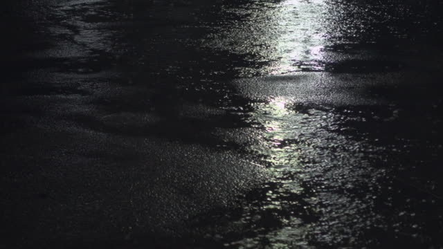 rain fall and refection on road - tarmac stock videos & royalty-free footage