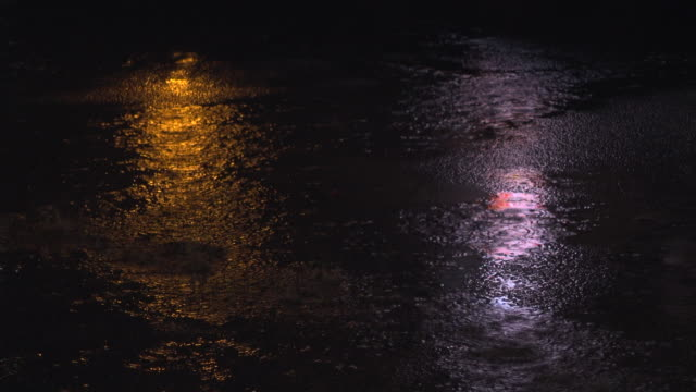rain fall and refection on road - flooring stock videos & royalty-free footage