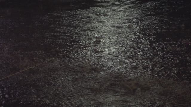 rain fall and refection on road - raindrop stock videos & royalty-free footage
