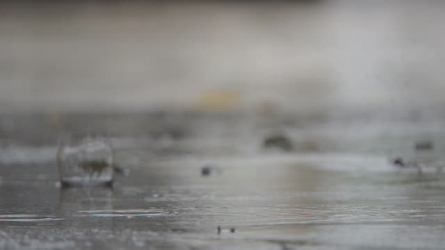 slo mo rain fall - raindrop stock videos & royalty-free footage