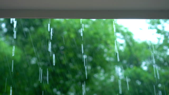 rain falling on roof - gutter stock videos and b-roll footage