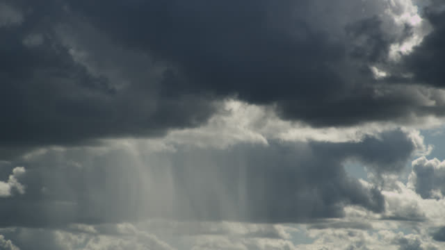 rain falls from storm clouds. - storm cloud stock-videos und b-roll-filmmaterial