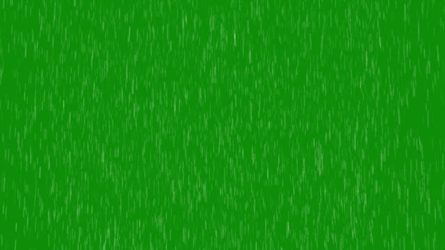 Rain Green Screen
