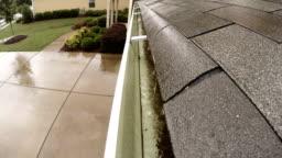 Rain Gutter Storm Roof Shingles Neighborhood