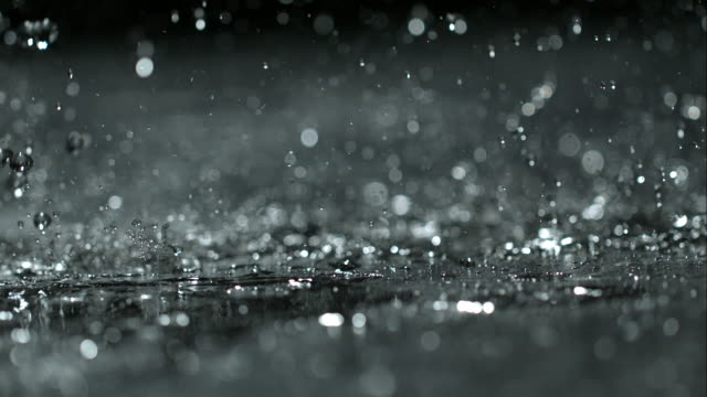 rain on black - raindrop stock videos & royalty-free footage