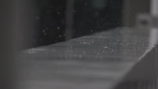 rain on the fence of the home in slow motion - pavement stock videos & royalty-free footage