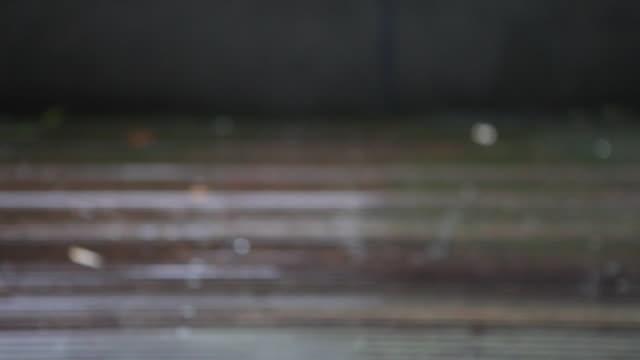 HD-Regen auf Holz