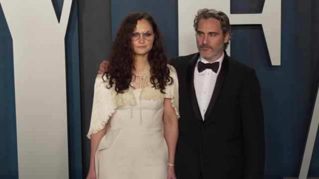 rain phoenix and joaquin phoenix at vanity fair oscar party at wallis annenberg center for the performing arts on february 09, 2020 in beverly hills,... - vanity fair stock videos & royalty-free footage