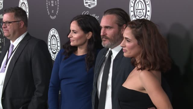 rain phoenix joaquin phoenix and summer phoenix at the art of elysium's presents john legend's heaven at barker hangar on january 06 2018 in santa... - barker hangar stock videos & royalty-free footage