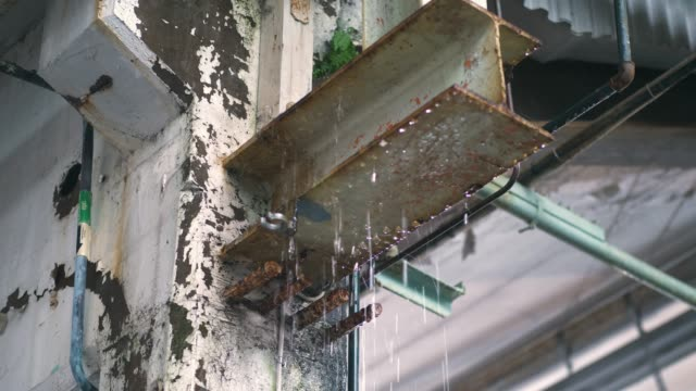 Rain Water Dripping in Warehouse
