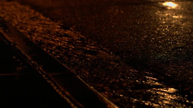 rain water in gutter - sidewalk gutter stock videos & royalty-free footage