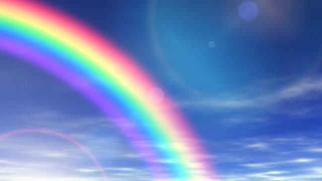 rainbow & beautiful sky - rainbow stock videos & royalty-free footage