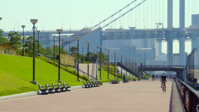 rainbow bridge / waterfront / seaside park - avenue stock videos & royalty-free footage