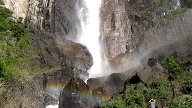 HD: Rainbow by a waterfall