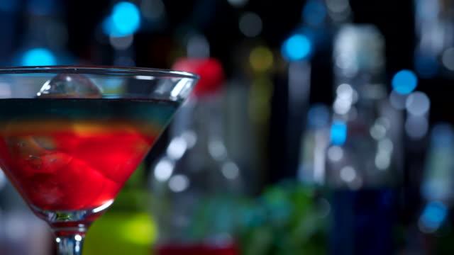 rainbow cocktail - martini glass stock videos & royalty-free footage
