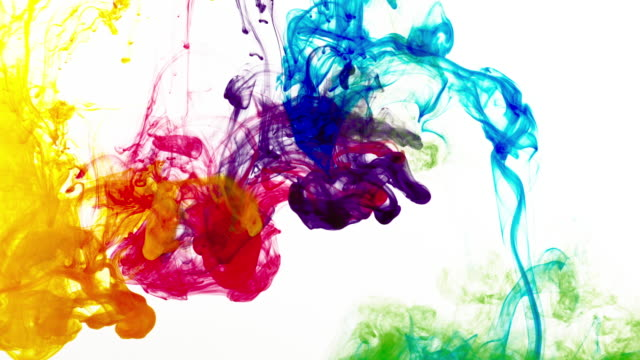 rainbow colors in water - mixing stock videos & royalty-free footage
