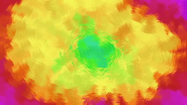 regenbogen farbige handbemalte abstrakter hintergrund - handcoloriert stock-videos und b-roll-filmmaterial