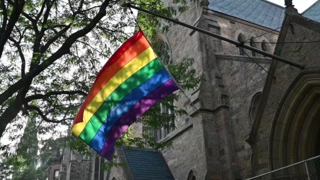 rainbow flag - lgbtqi people stock videos & royalty-free footage