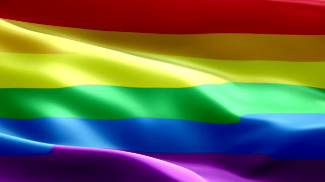 Rainbow Flag wave Pattern loopable Elements