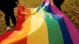 Rainbow flag,b-roll