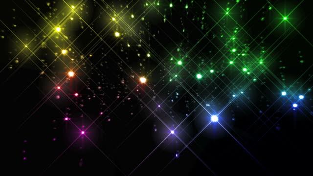 rainbow glitter background loop - rainbow stock videos & royalty-free footage